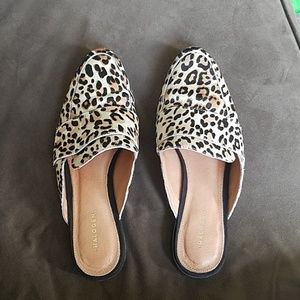 Halogen size 8 genuine calf hair mules